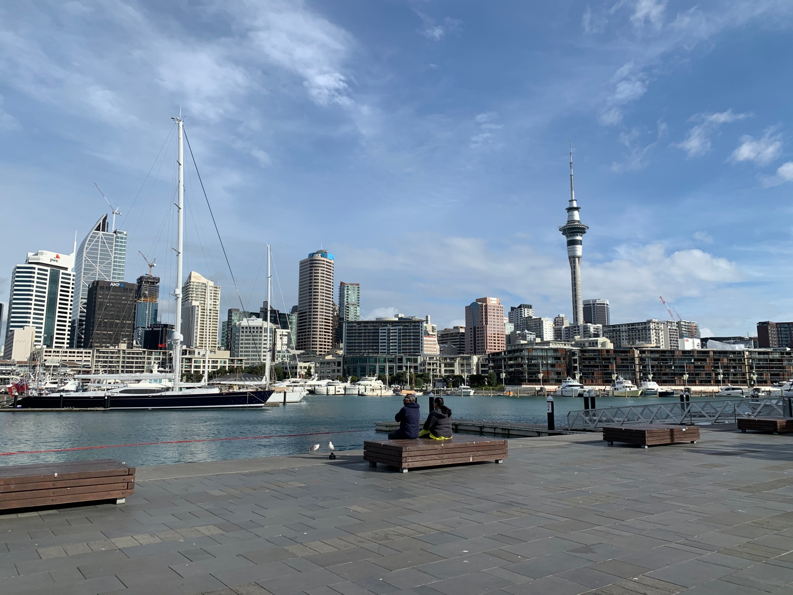 The wharf in downtown Auckland